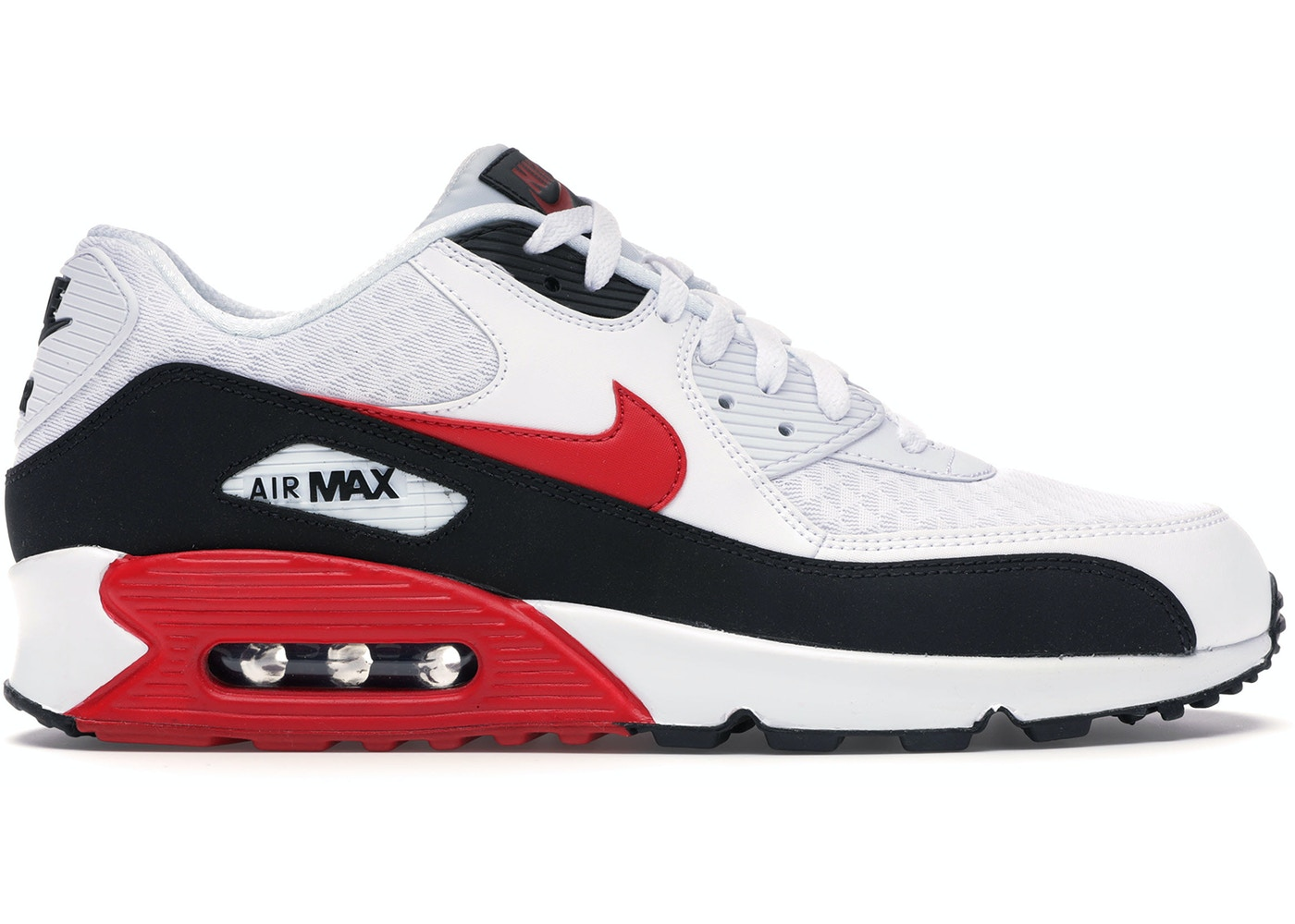 Nike Air Max 90 White University Red Black Bv2522 100