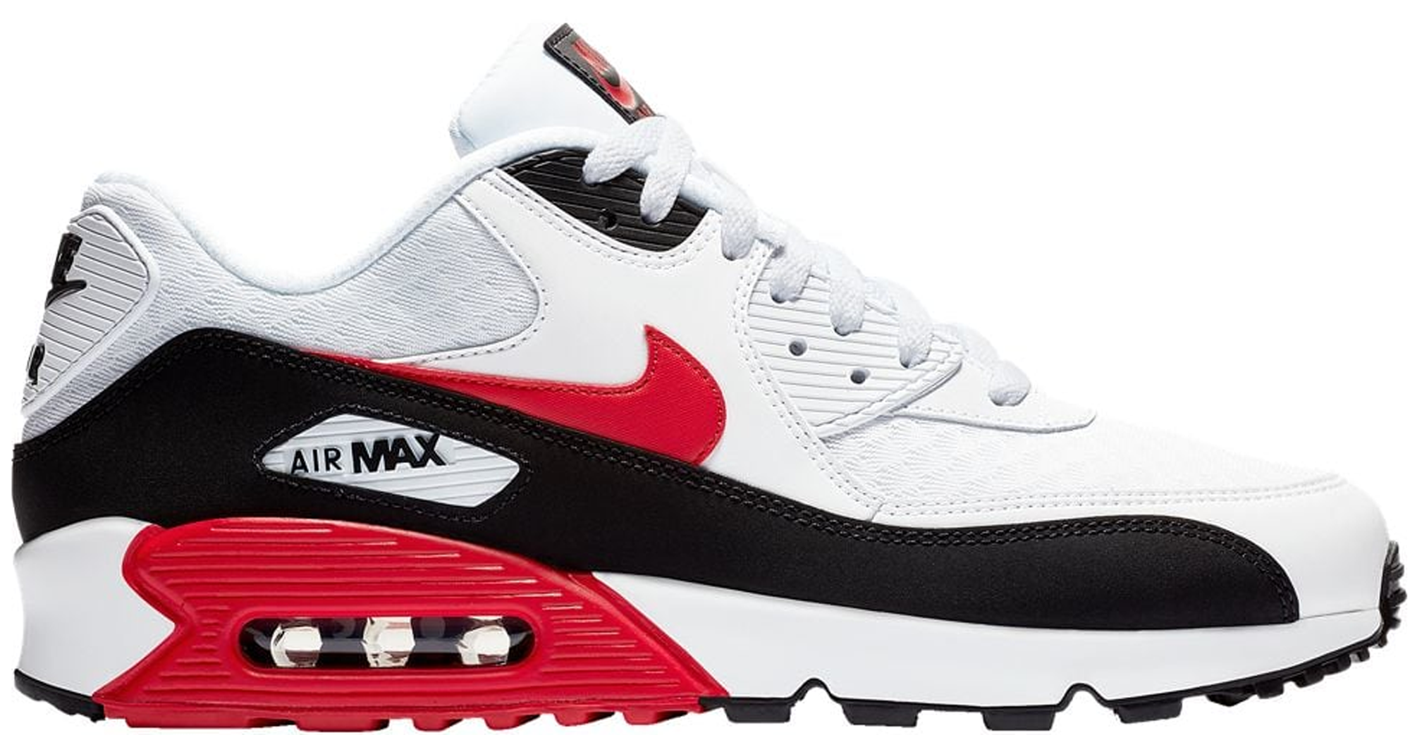 Air Max 90 White University Red Black