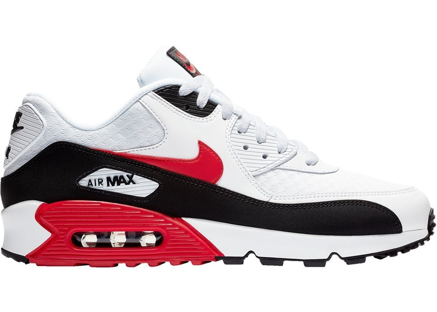 separation shoes 045a9 2f4cf Air Max 90 White University Red Black - BV2522-100