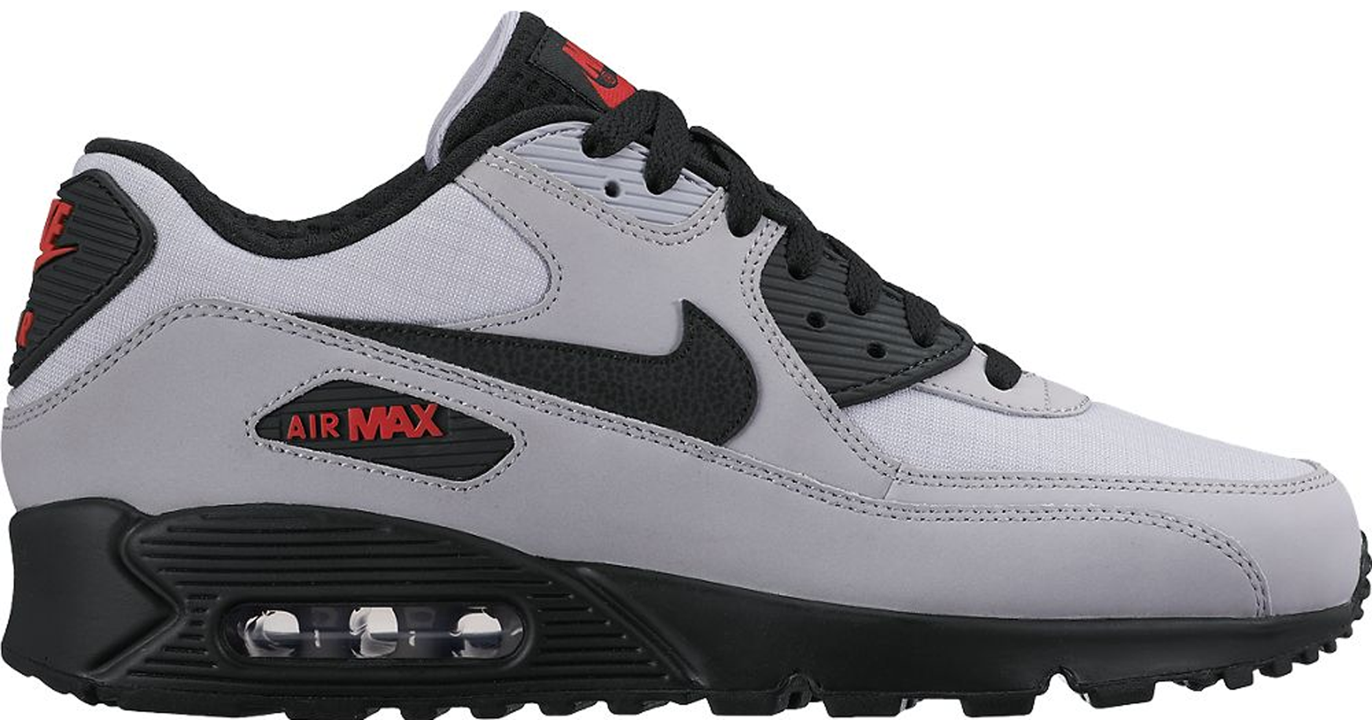 air max 90 essential grey black red