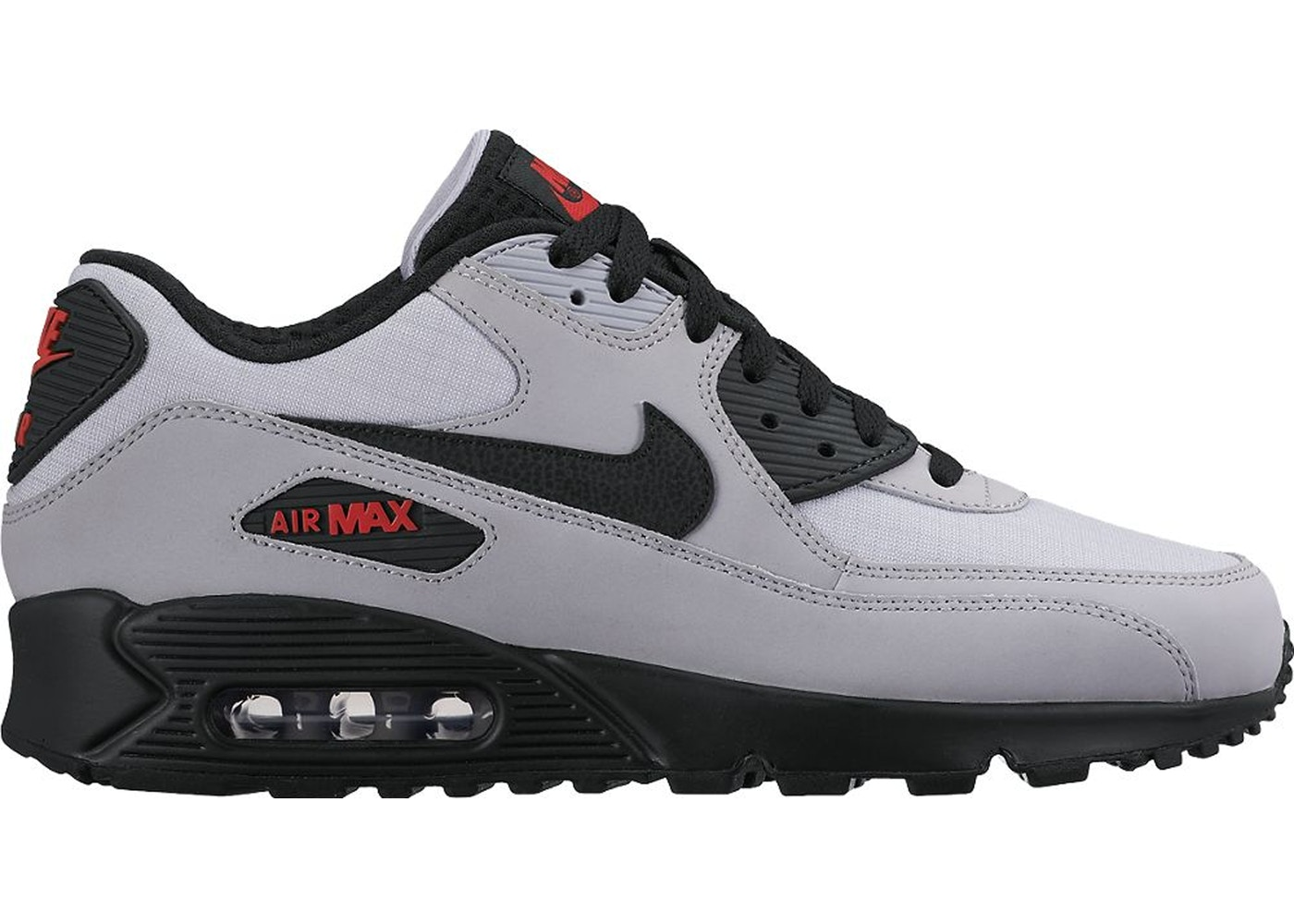 Air Max 90 Wolf Grey Black Red 537384 049