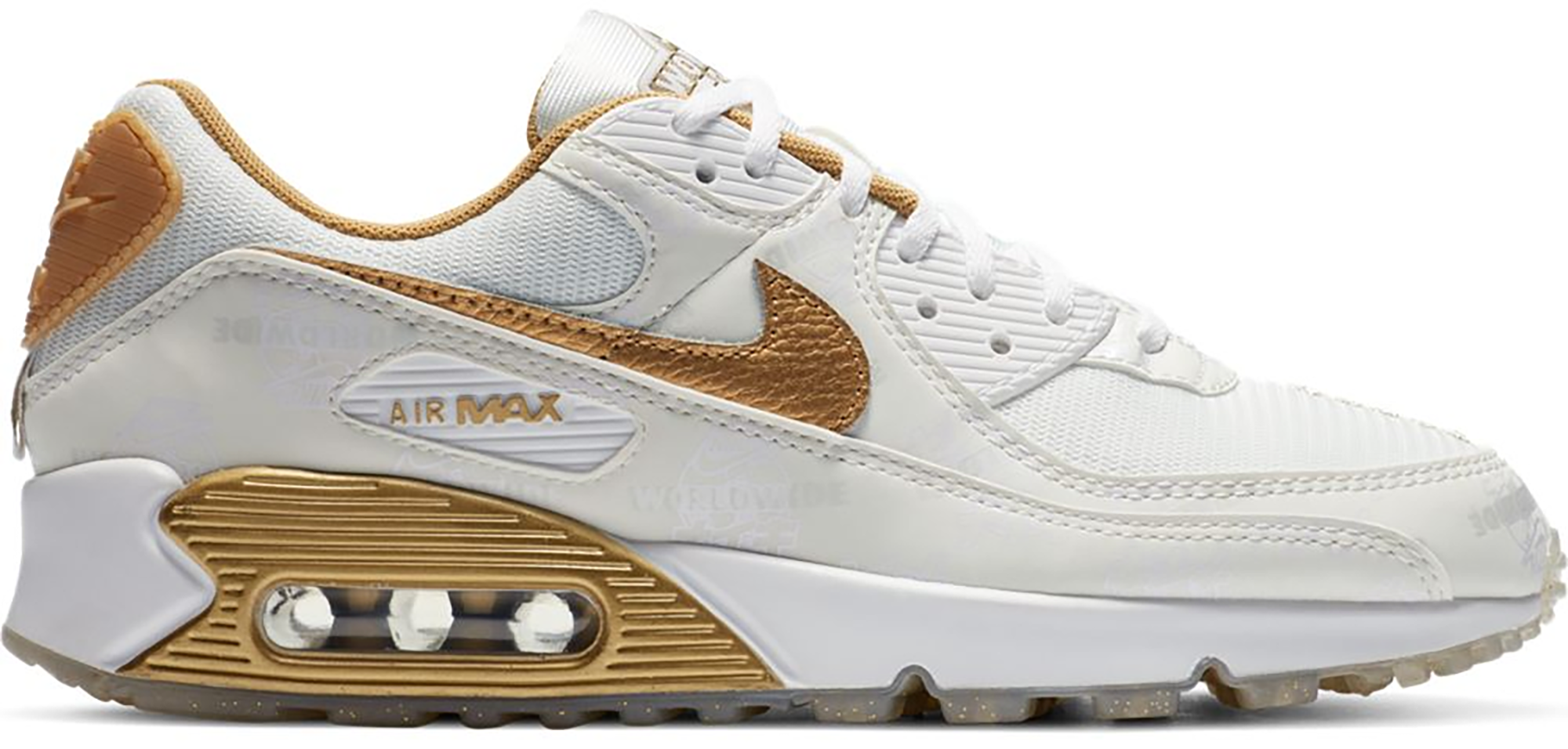 Nike Air Max 90 Worldwide White Gold (W