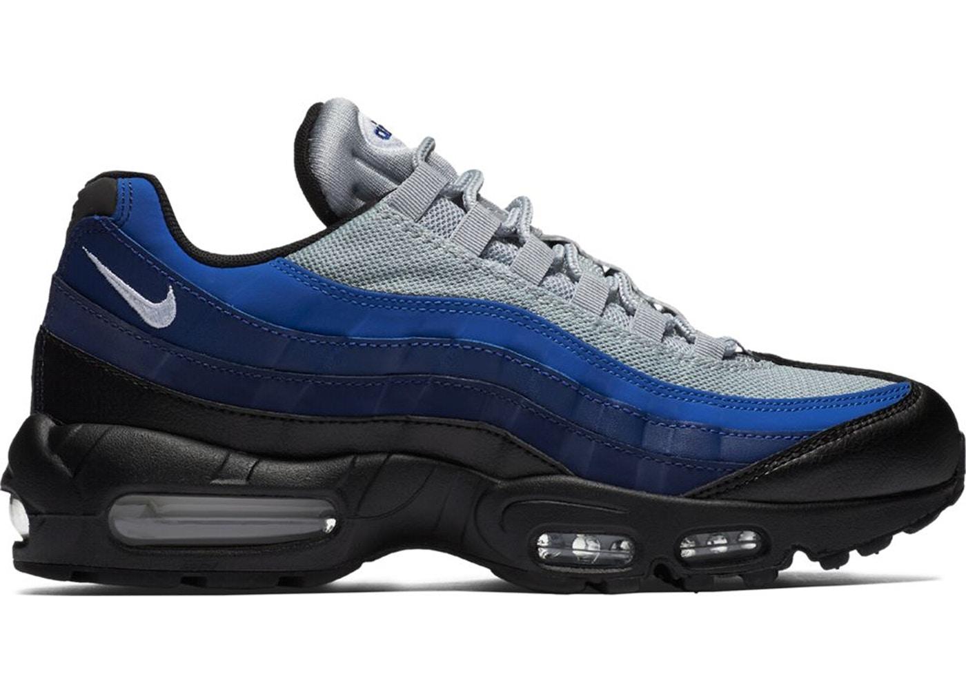 nike air max 95 white blue black