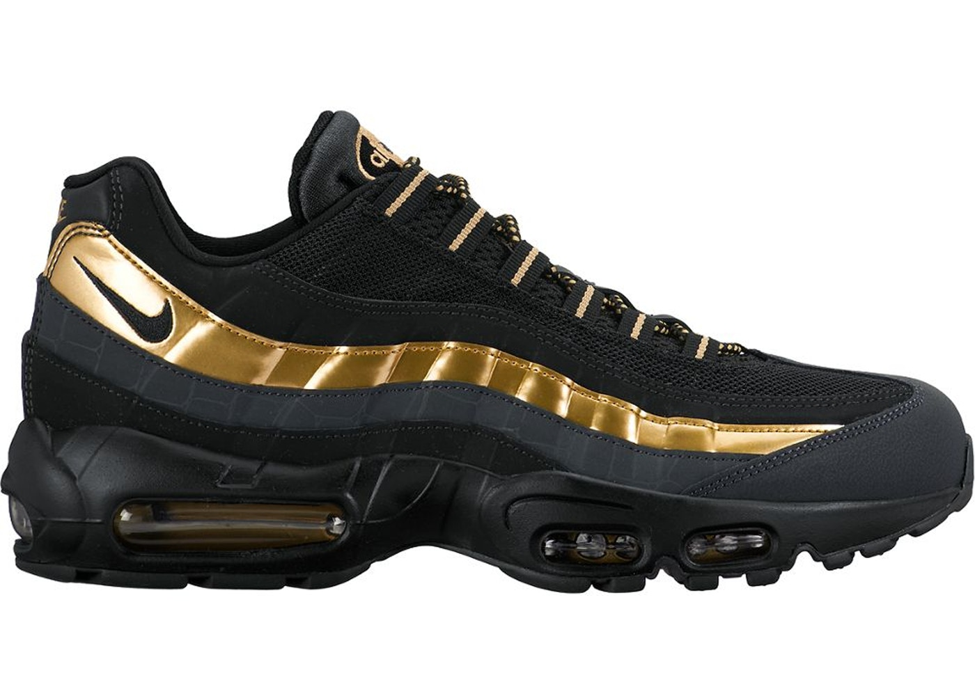 black and gold air max