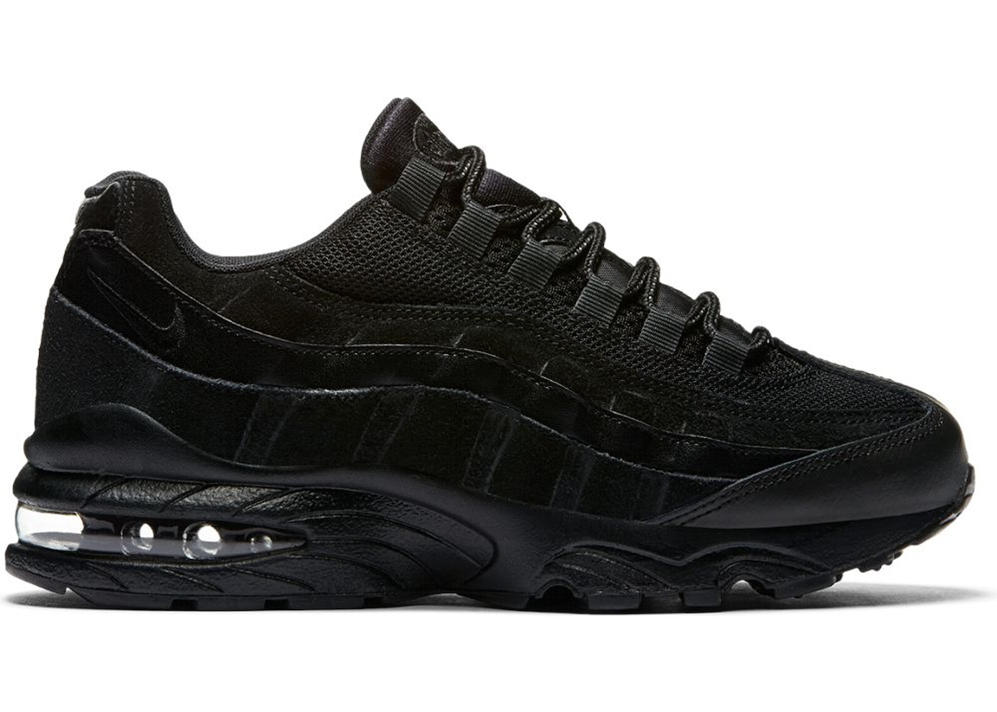 newest 46446 dc858 Air Max 95 Black Suede (GS) - 307565-055