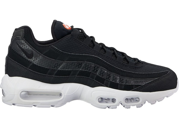 finest selection 8ee8f f1f30 Air Max 95 Black White Team Orange - 924478-001