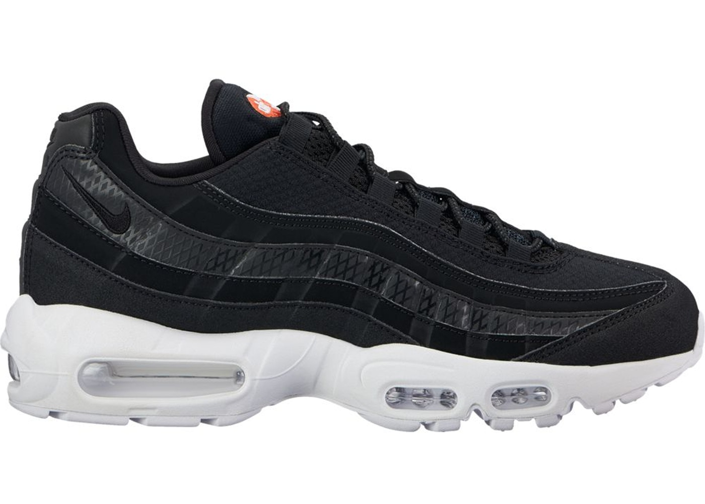 get online 50% price usa cheap sale Air Max 95 Black White Team Orange