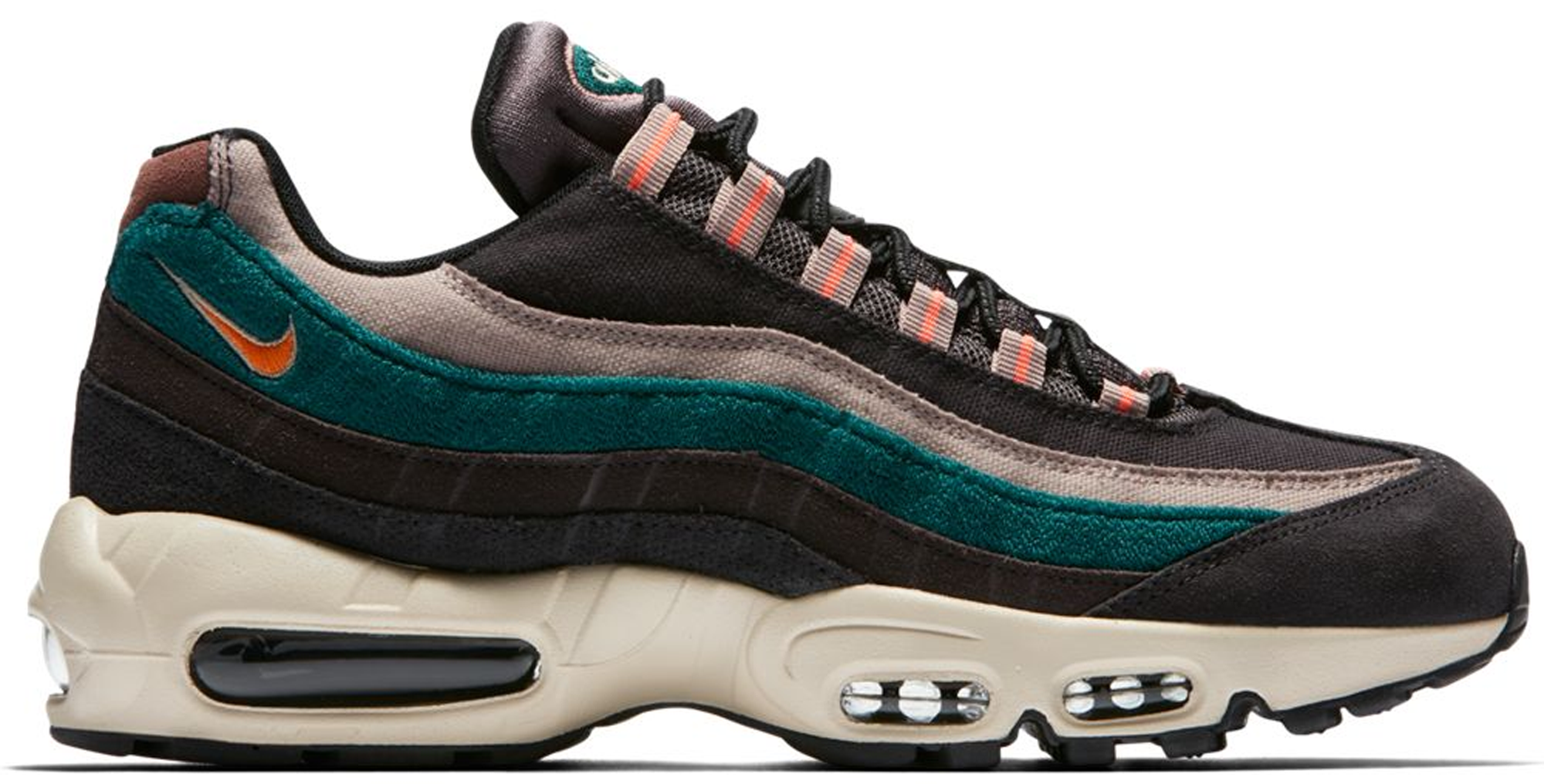 Air Max 95 Grey Rainforest Bright Mango In Oil Greythunder Grey rainforest bright Mango