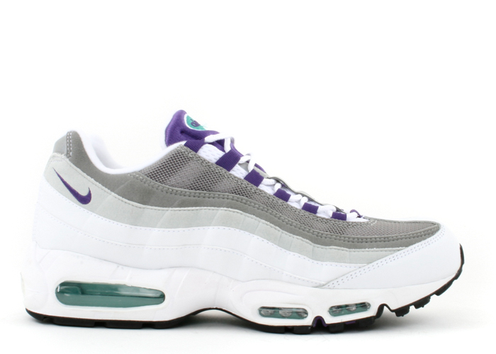 coupon code the cheapest exclusive shoes Air Max 95 History Of Air (W) in White/Wild Grape-Dark Jade
