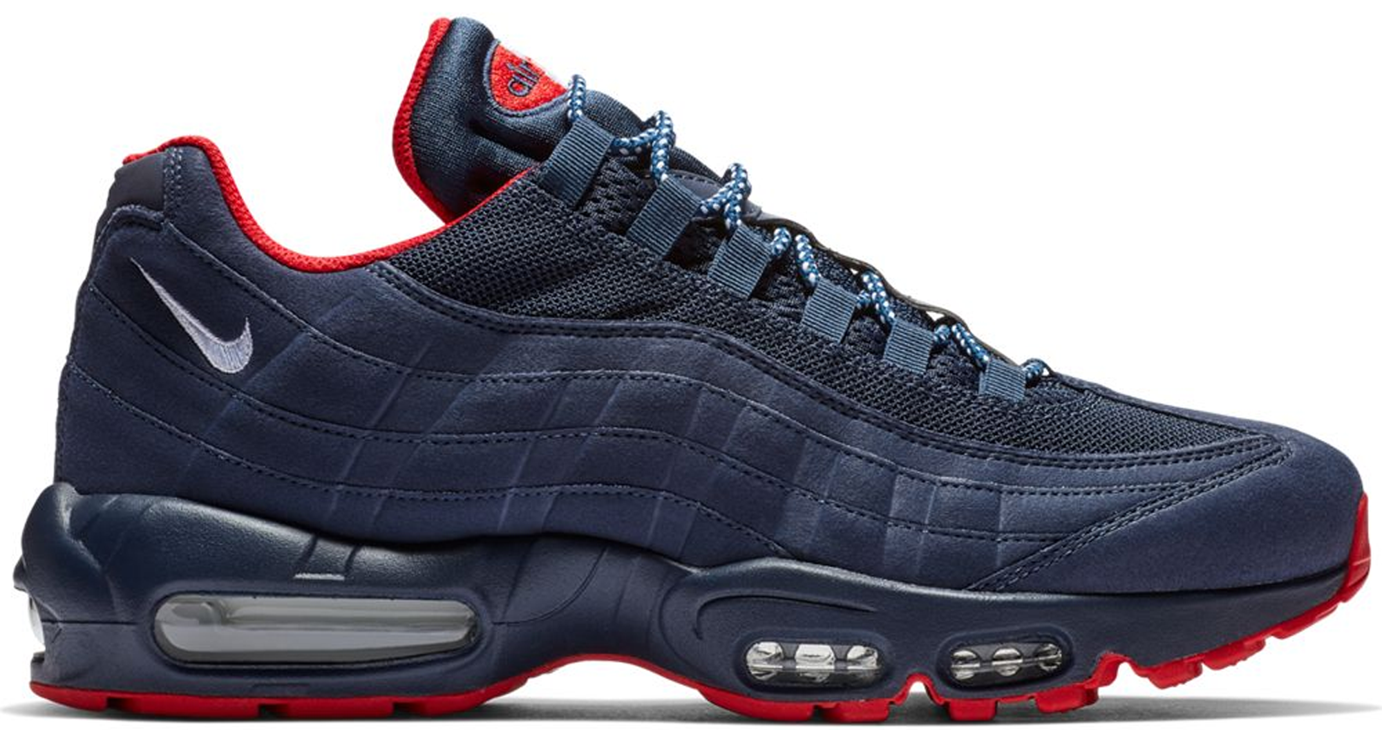 nike air max 95 navy blue and white