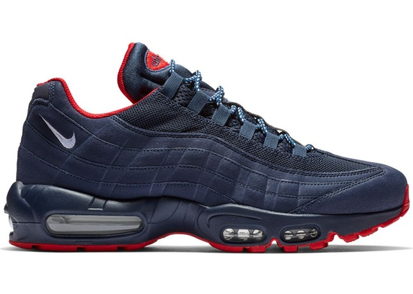 best service 7d2df 6057c Air Max 95 Midnight Navy University Red