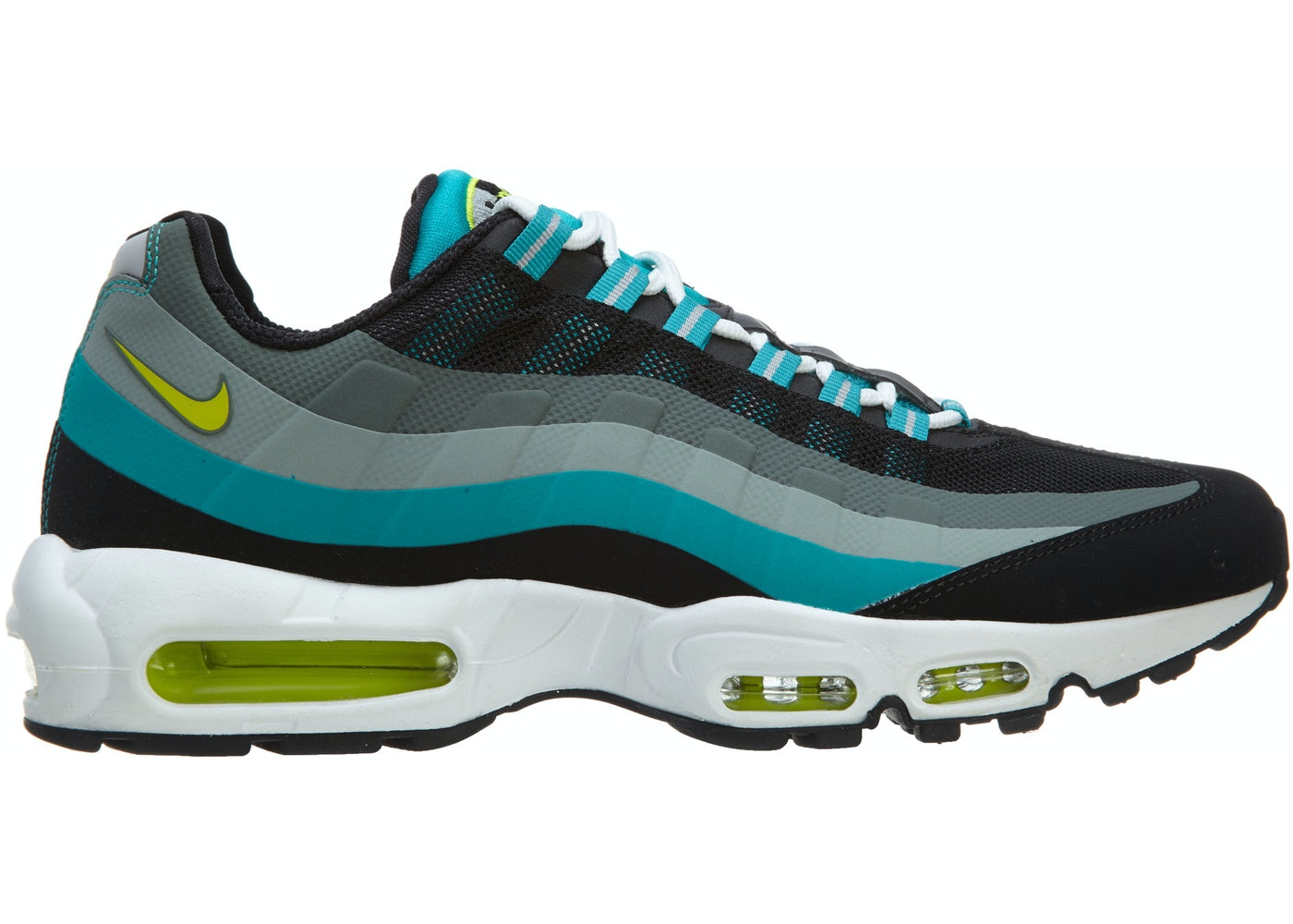 buy popular f0ad8 672db Sell. or Ask. Size  13. View All Bids. Nike Air Max 95 No Sew Running  Sneakers Black Venom Green-Turbo Green