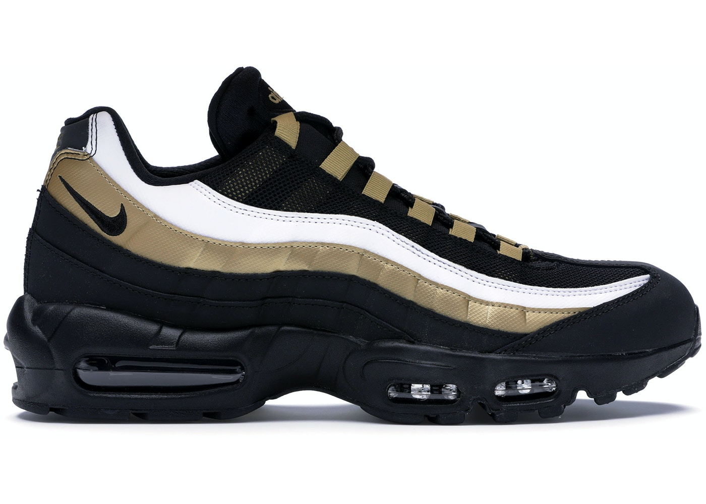size 40 99359 10431 Air Max 95 OG Black Metallic Gold White - AT2865-002