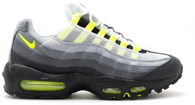 nike air max 95 patch cool grey/white-neon yellow bullet