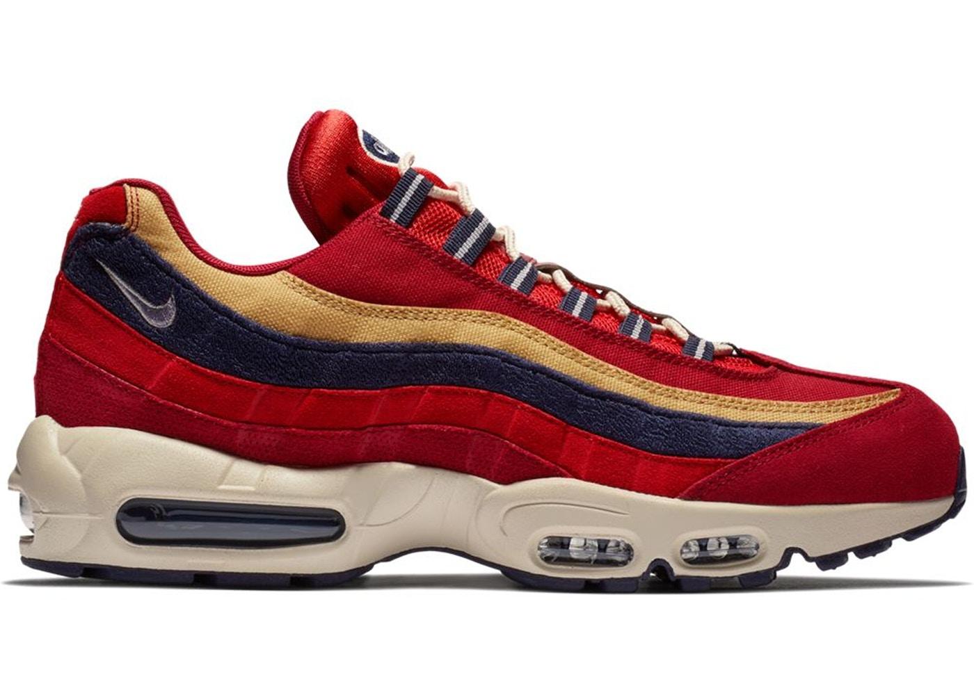 Nike Air Max 95 Red Crush Wheat Gold 538416 603