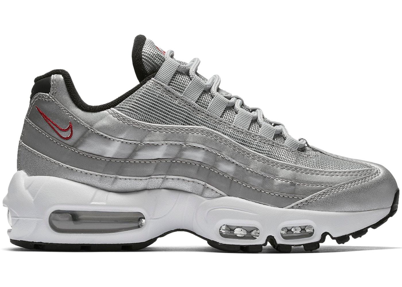 2air max 95 silver
