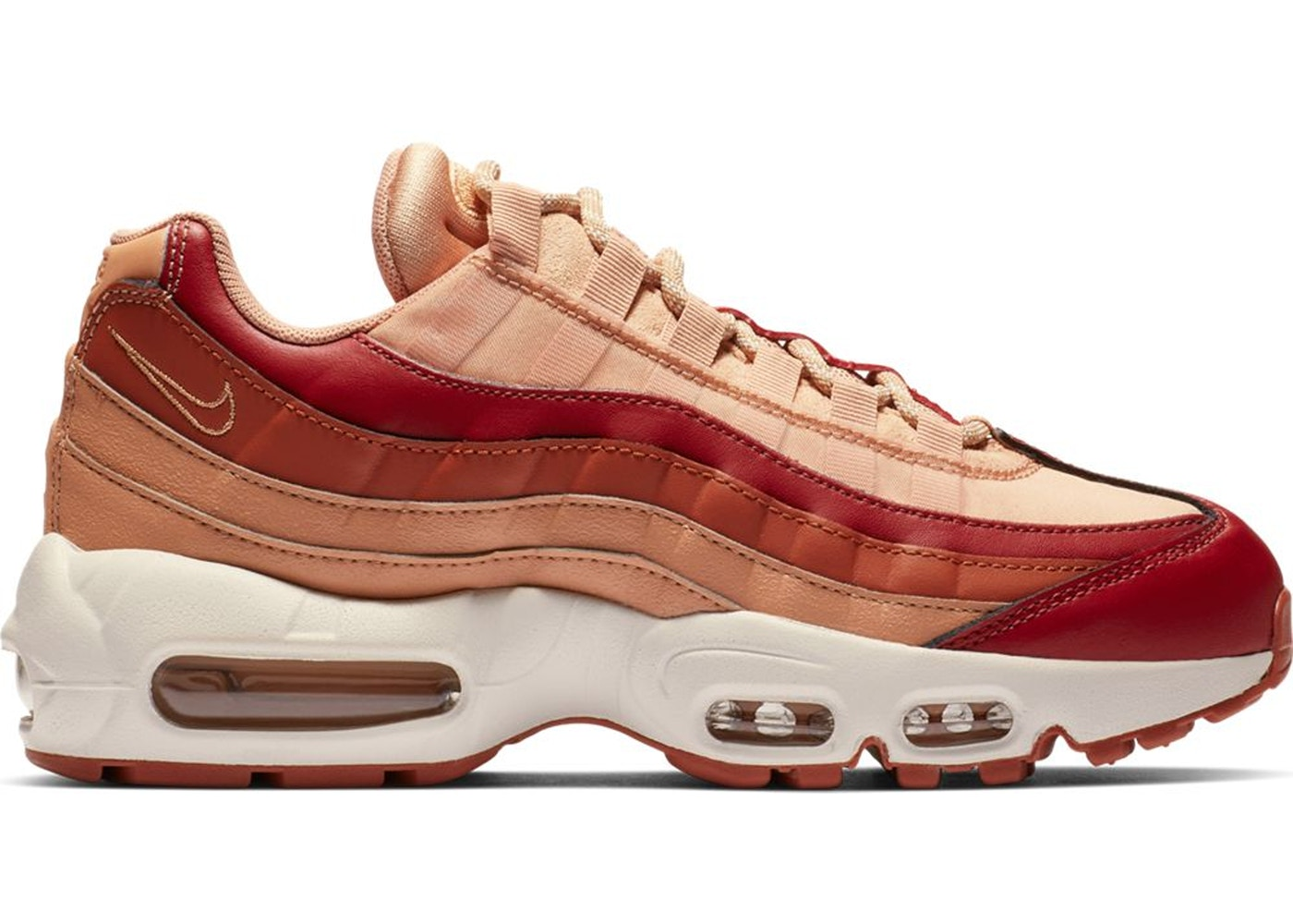 reputable site eea7f f398f Air Max 95 Team Crimson Dusty Peach (W)