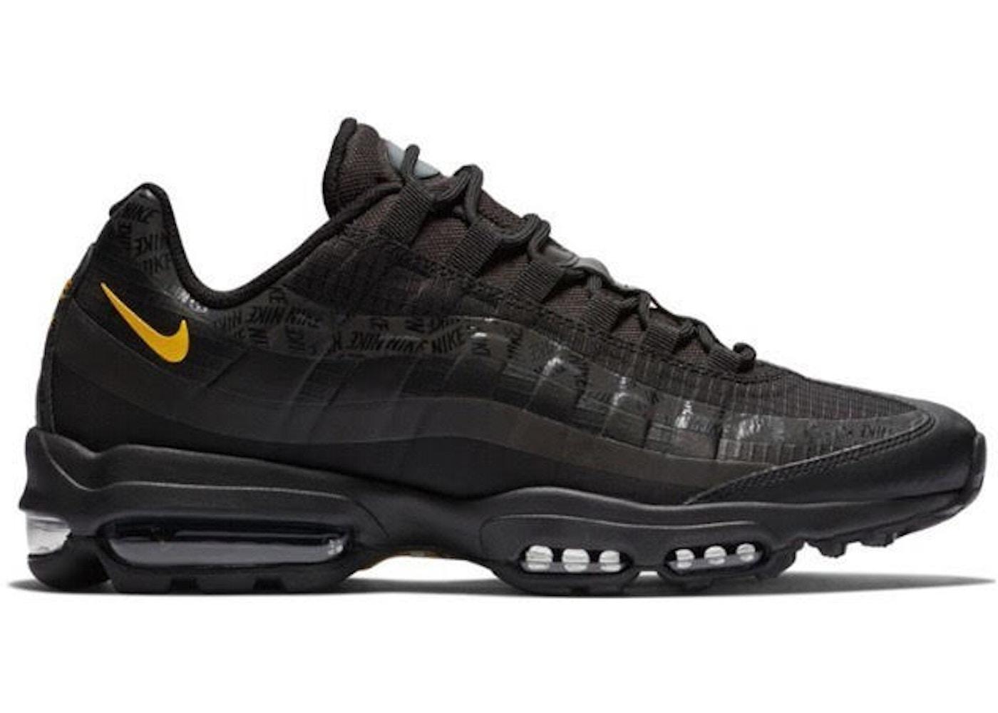 Hostil foso su  Nike Air Max 95 Ultra Black Amarillo - AR4236-002