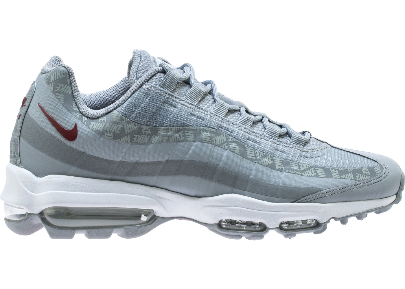the latest 84193 9525c Air Max 95 Ultra Wolf Grey Red Crush - AR4236-001