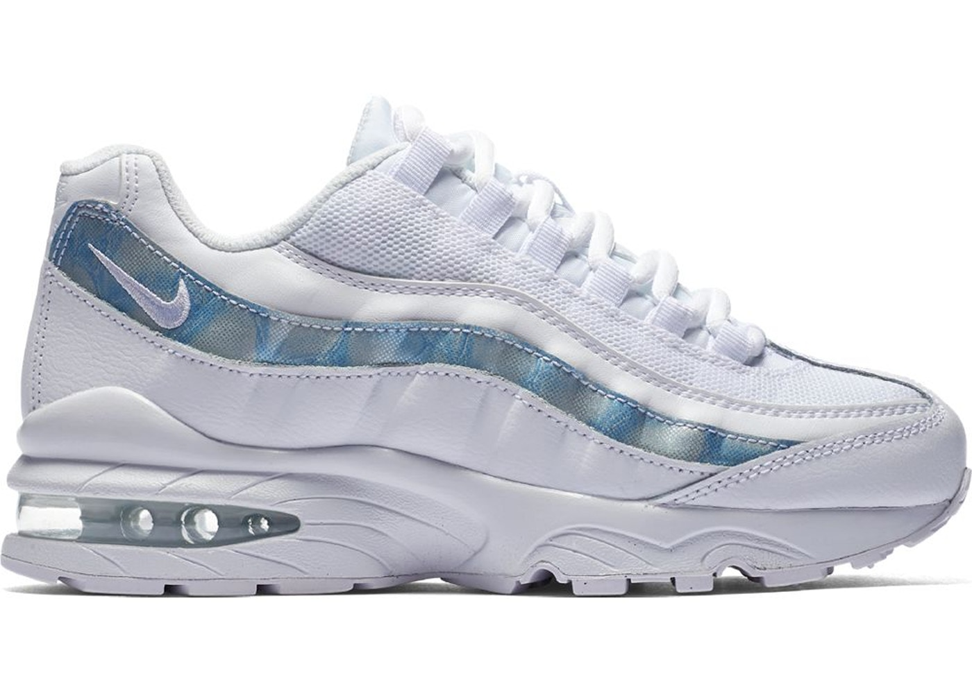 big sale best choice details for Nike Air Max 95 White Cobalt Pulse (GS) - 905348-102