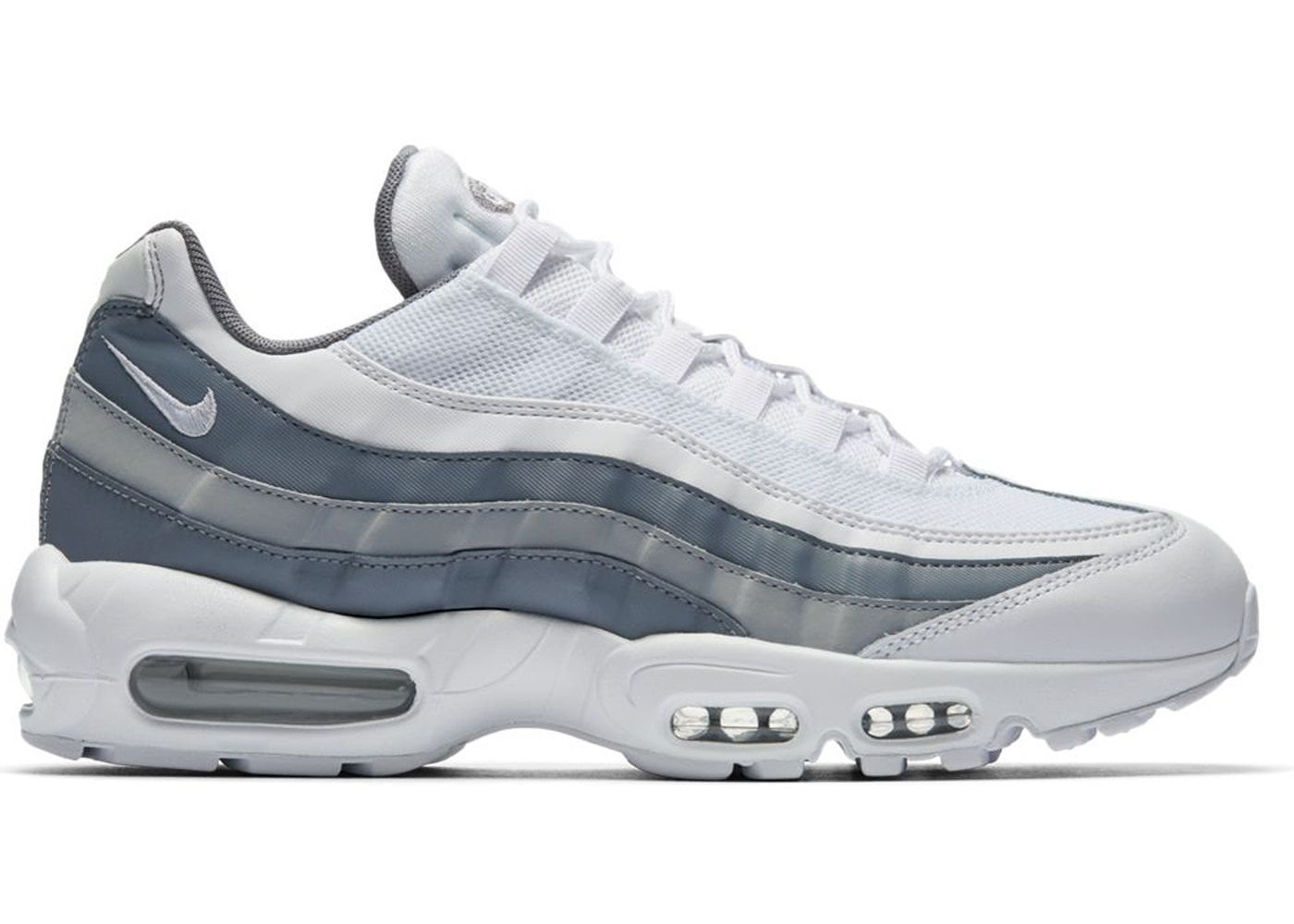 huge discount 77513 70c52 Air Max 95 White Cool Grey Wolf Grey