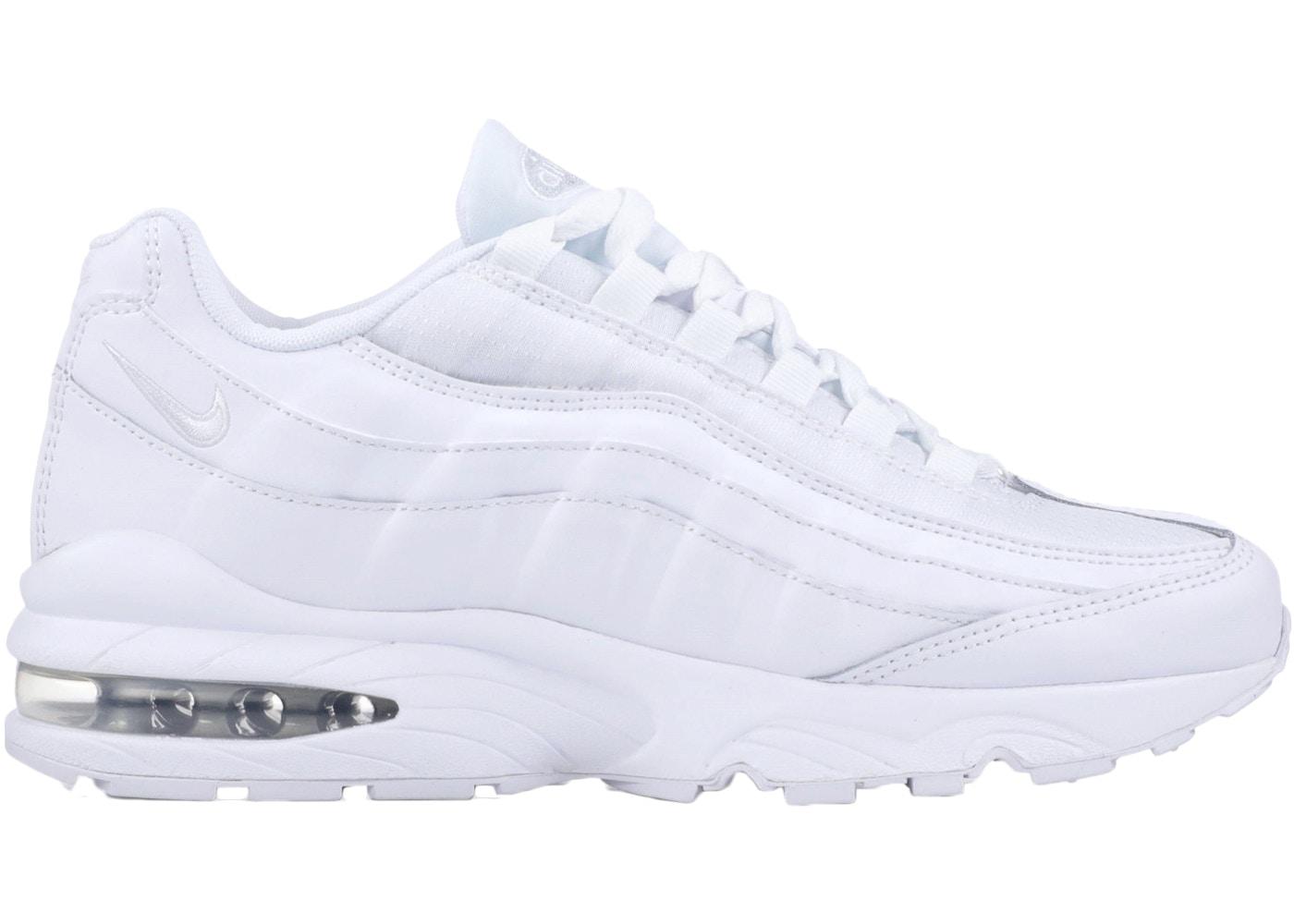 air max 95 white silver