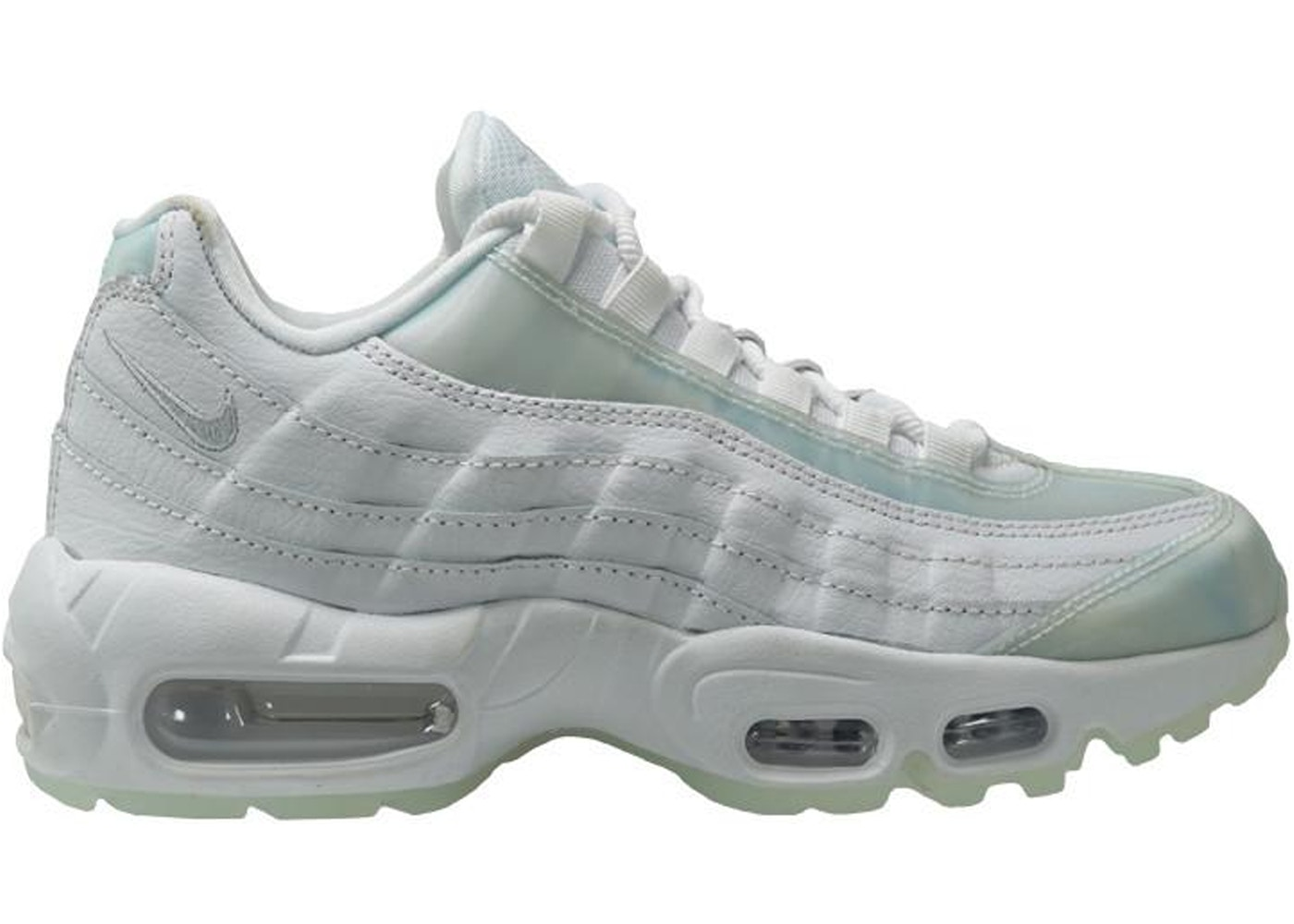 innovative design 64ba0 9bd01 ... Cheap Nike Air Max 95 White Grey Trainers UK Sale  Air Max 95 White  Platinum Ice (W) ...