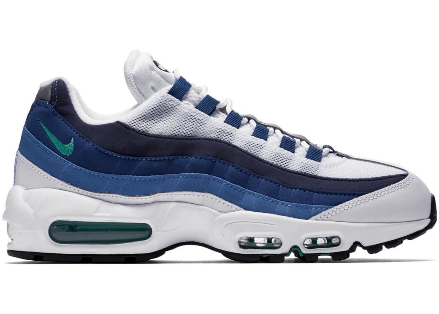 Nike Air Max 95 White Slate Blue 554970 131