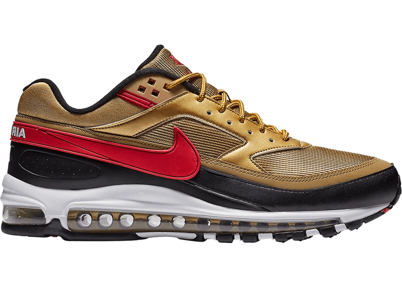new concept 06a6b 47db5 Air Max 97 BW Metallic Gold University Red Black - AO2406-700