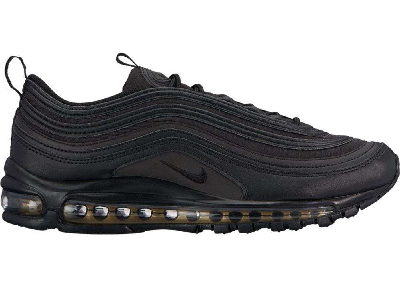 nike air max 97 black and gold reflective