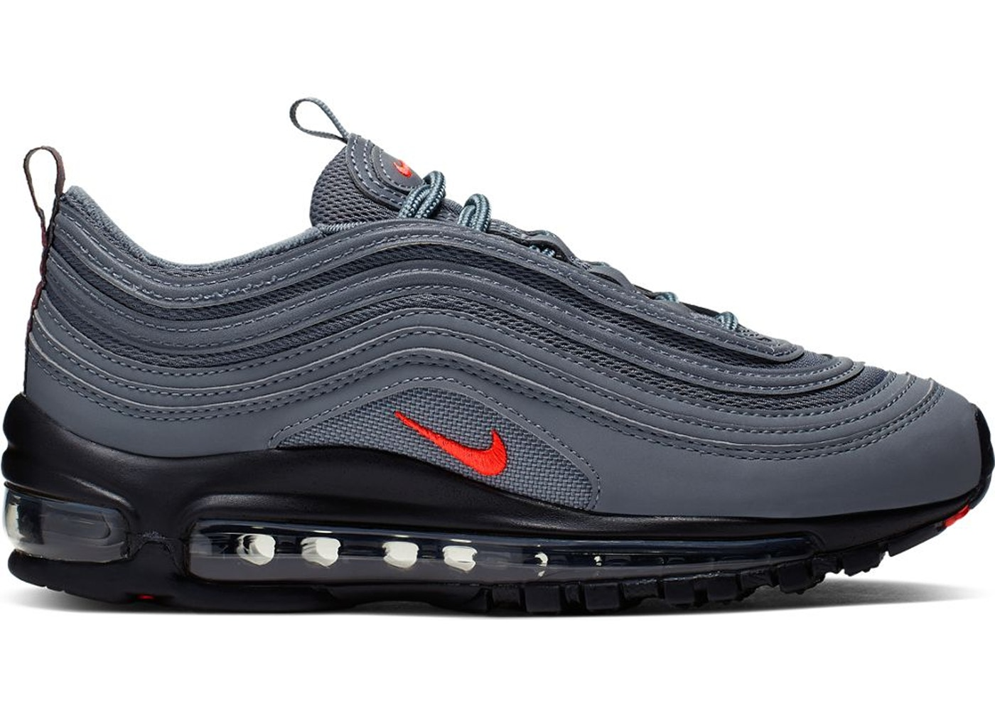 Nike Air Max 97 Dark Grey Black Crimson Gs Cq0359 001