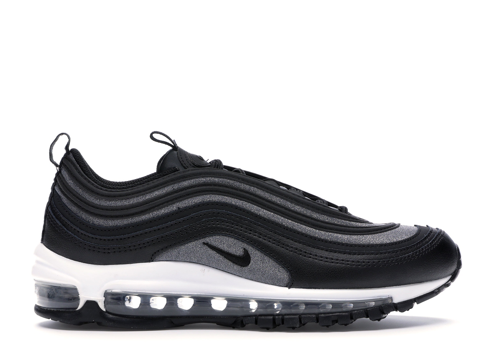 Air Max 97 Glitter Black (w) In Blackblack white dark Grey