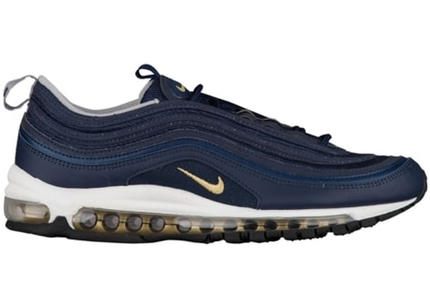 info for 95fff cf352 Image is loading NIKE-AIR-MAX-97-BLUE-GOLD-921826 Air Max 97 Midnight Navy  Metallic Gold - 921826-400 ...