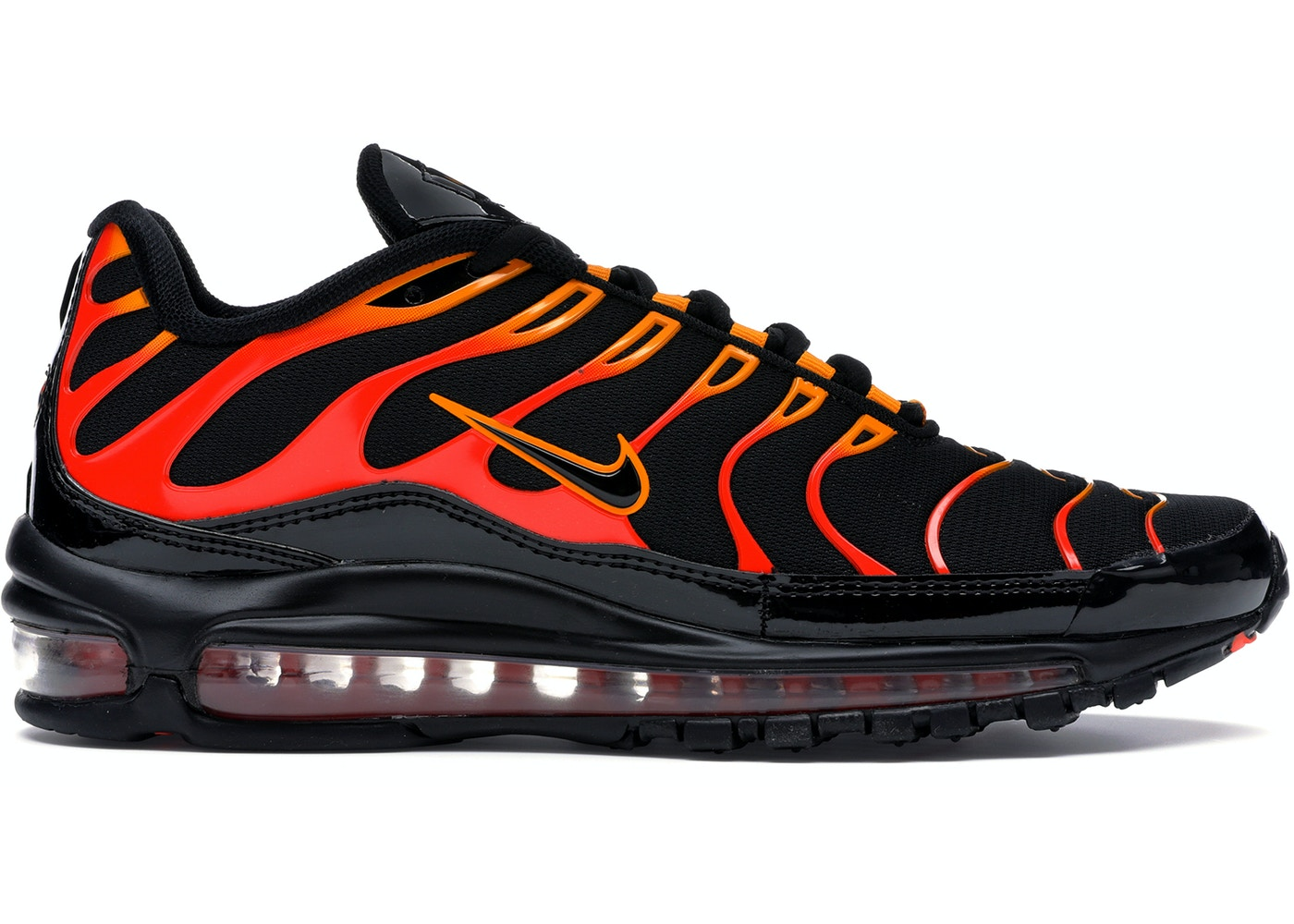the best attitude 1895c 12499 Air Max 97 Plus Black Shock Orange