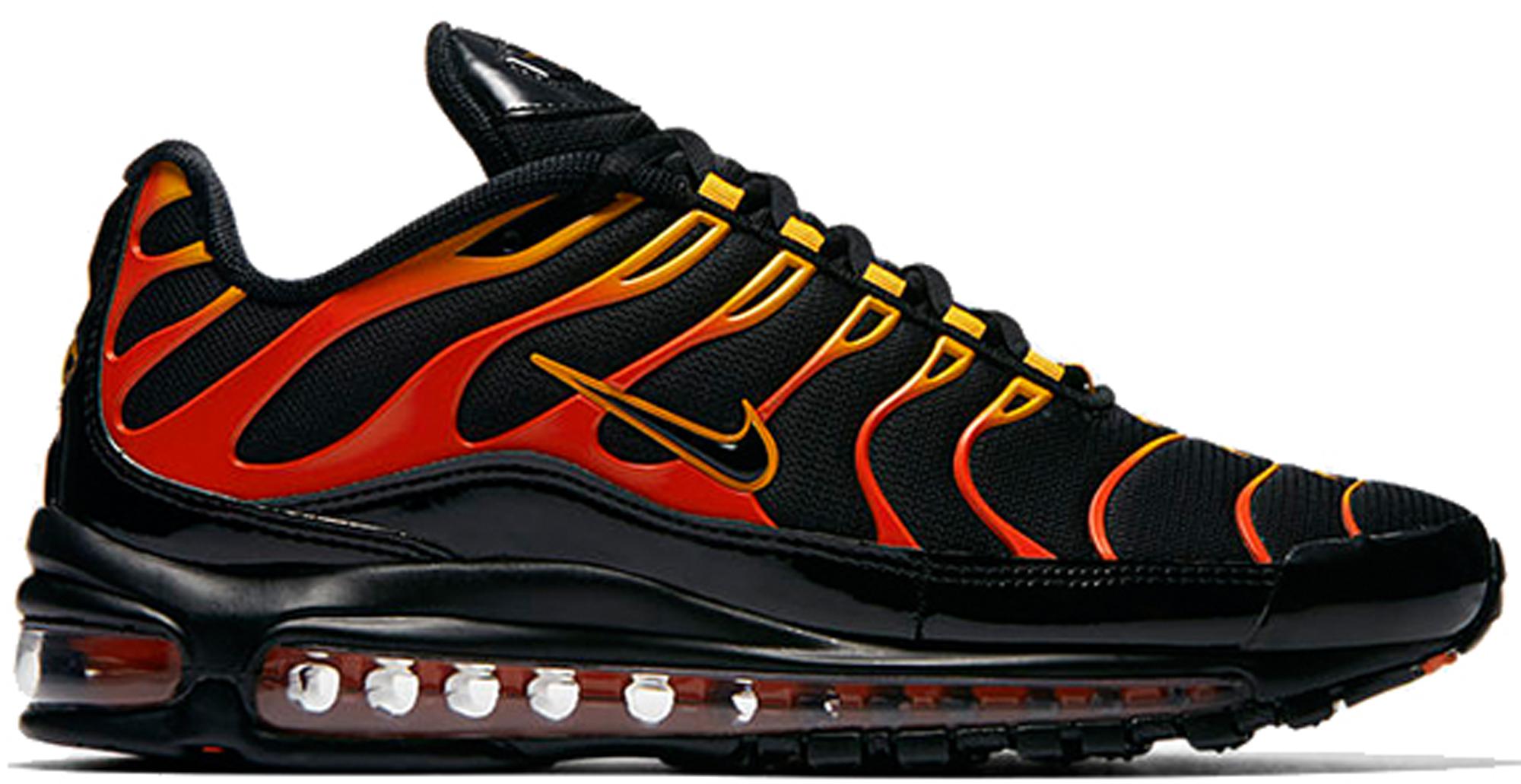 Air Max 97 Plus Black Shock Orange