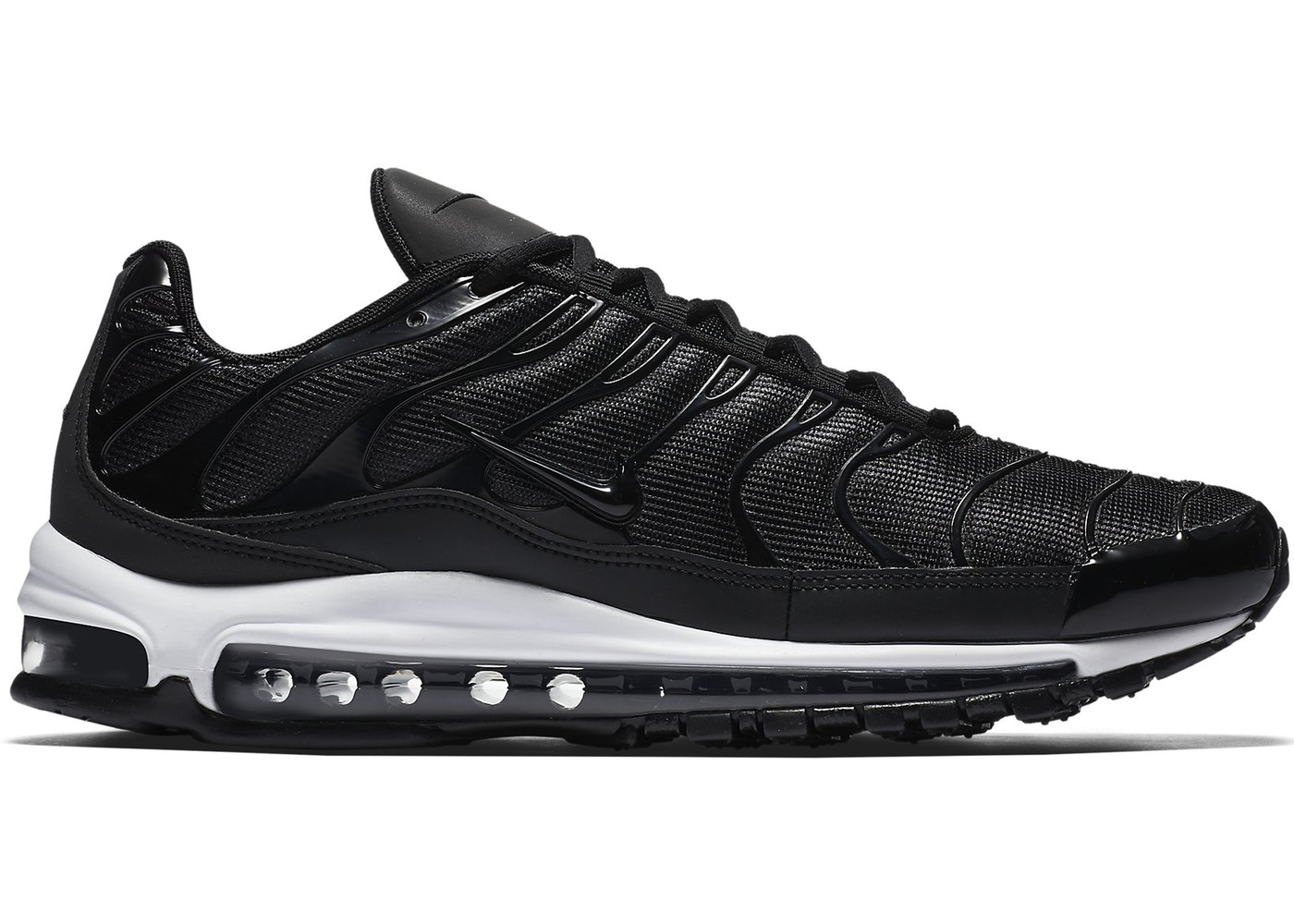 check out 193a5 13a81 Air Max 97 Plus Black White
