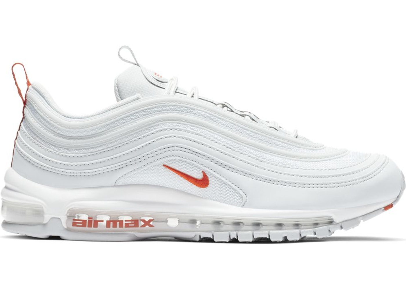 Air Max 97 Pure Platinum Team Orange