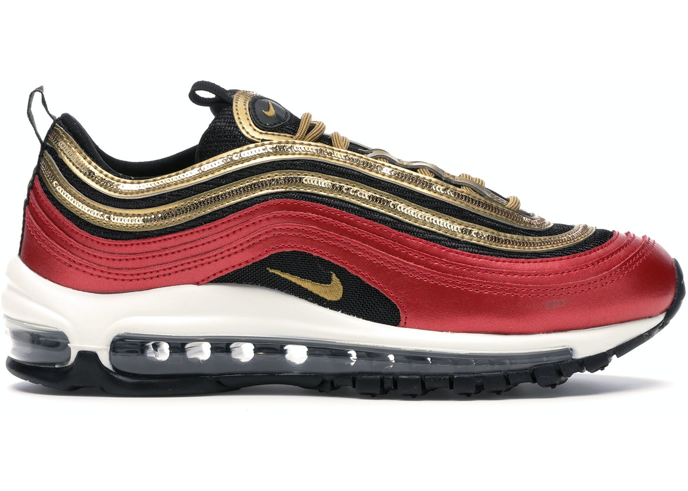 vertical Pigmalión Sala  Nike Air Max 97 Red Gold Sequin (W) - CT1148-600