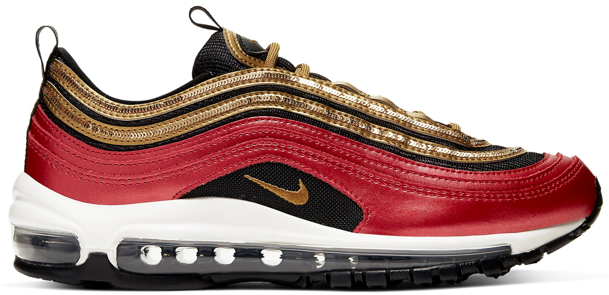 Pre Owned Nike Air Max 97 Red Gold Sequin W In Gym Red Metallic