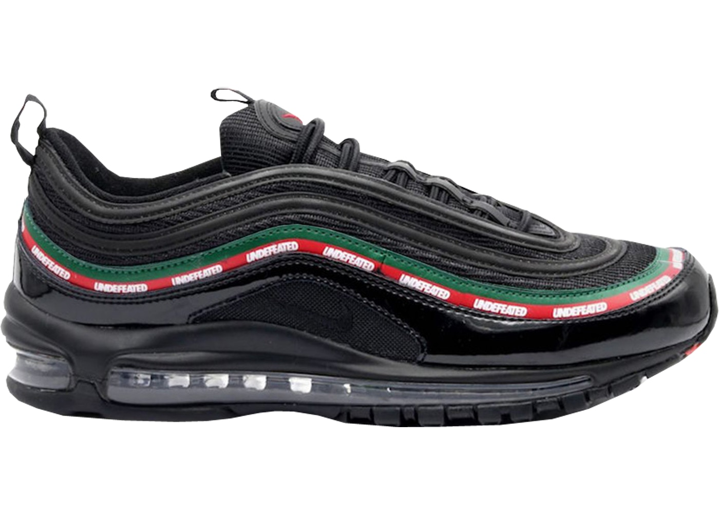 undefeated × nike air max 97 black