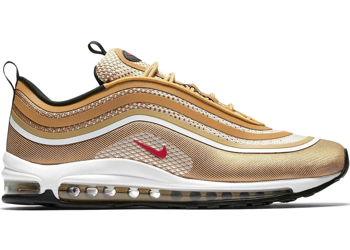 detailing newest skate shoes Air Max 97 Ultra 17 Metallic Gold