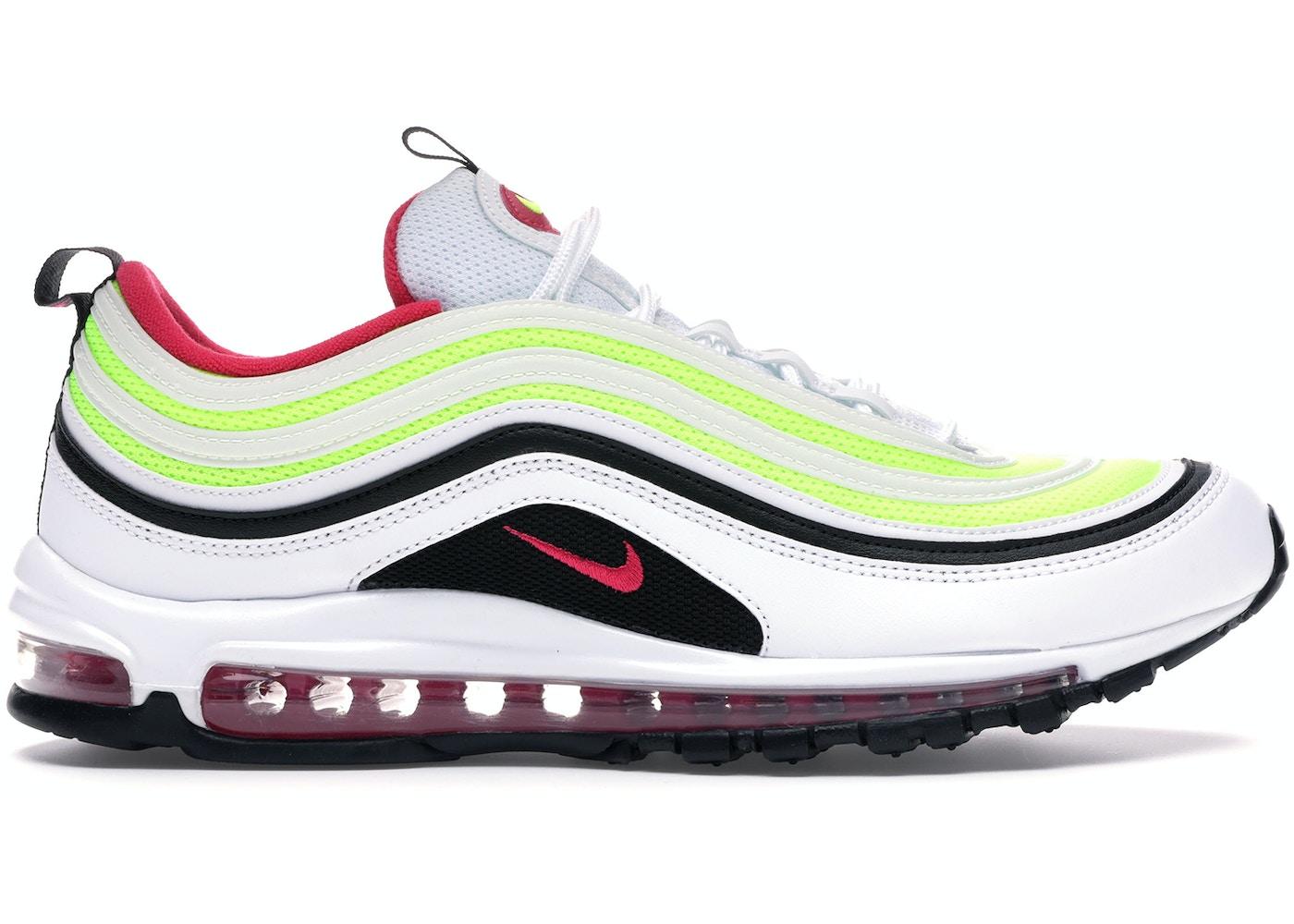 Nike Air Max 97 White Black Volt Rush Pink Ci9871 100