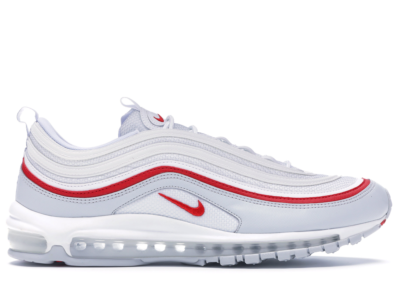 Air Max 97 White Pure Platinum University Red