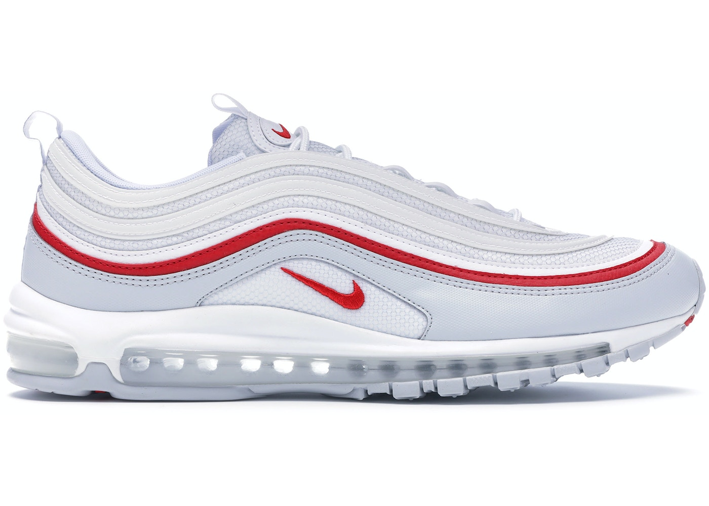 new products 9af2d 998f7 Air Max 97 White Pure Platinum University Red - AR5531-002