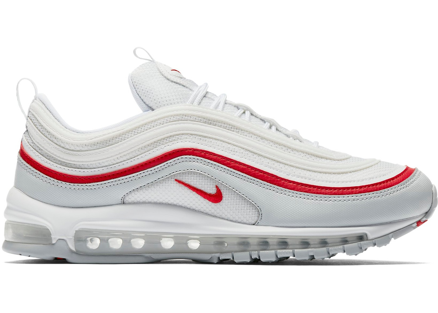 on sale 3dfce 4d1e6 ... Air Max 97 White Pure Platinum University Red ...