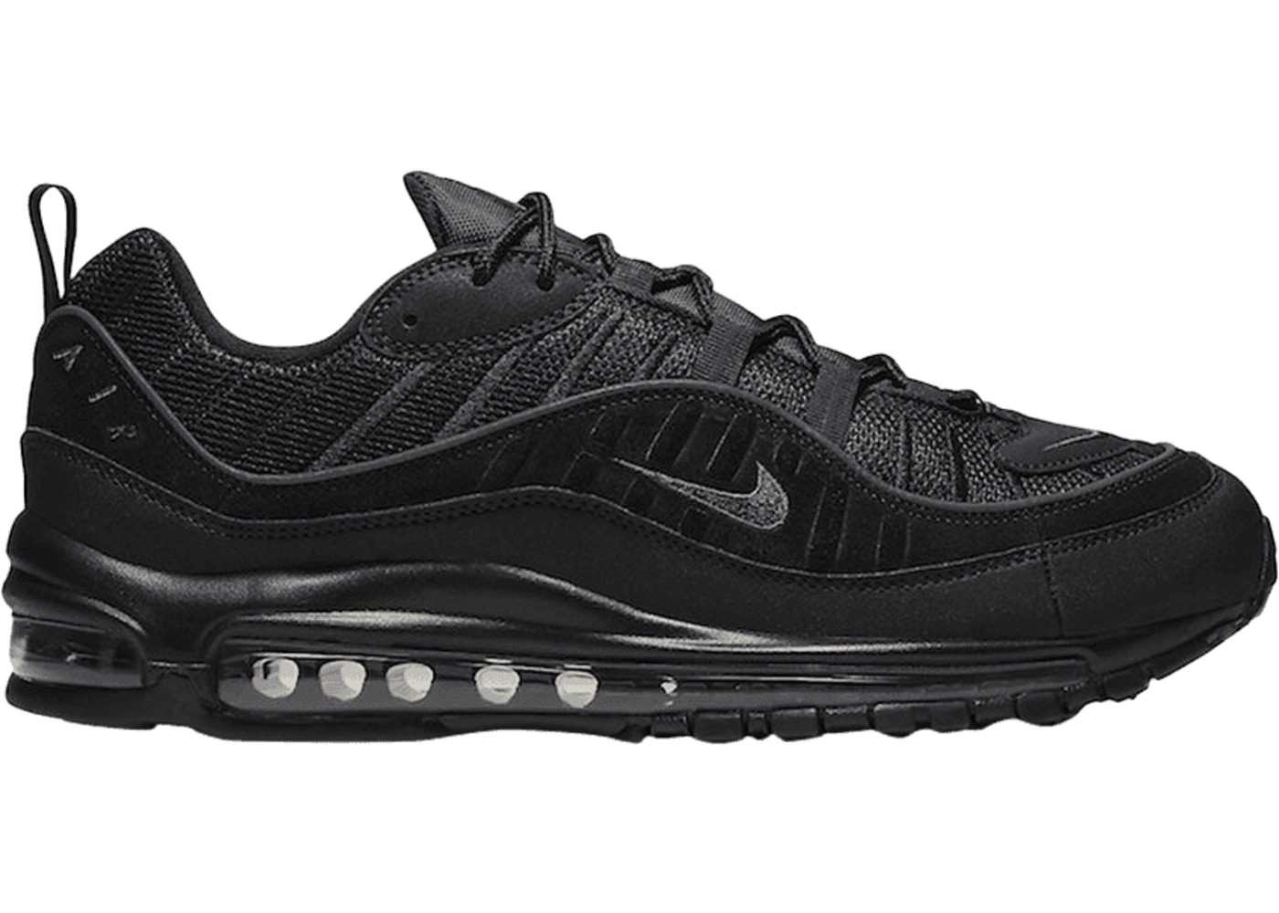 Air Max 98 Black Anthracite Black Sole