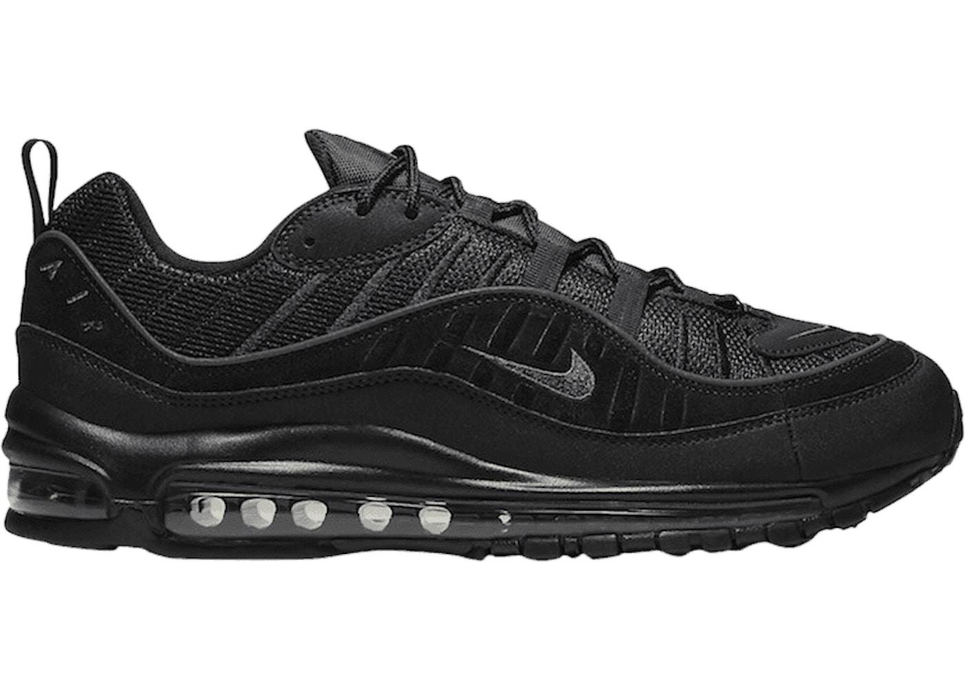 Nike Air Max 98 Black Anthracite Black Sole