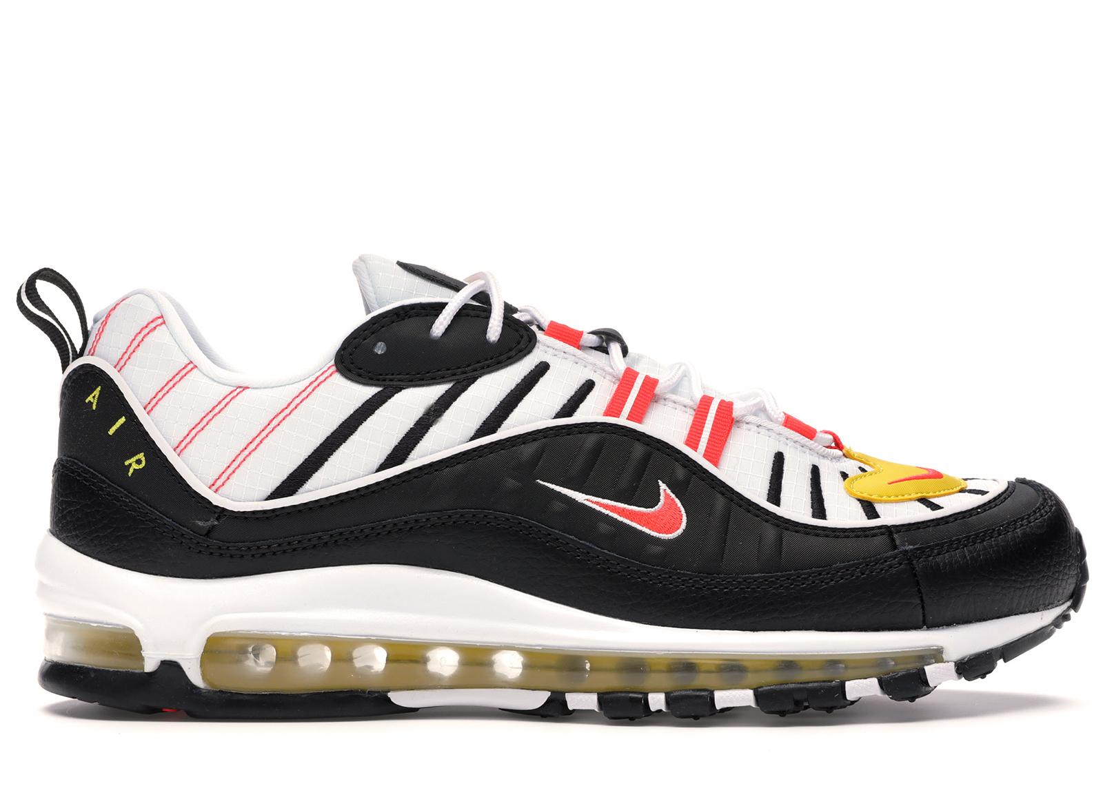 Nike Air Max 98 Black White Yellow