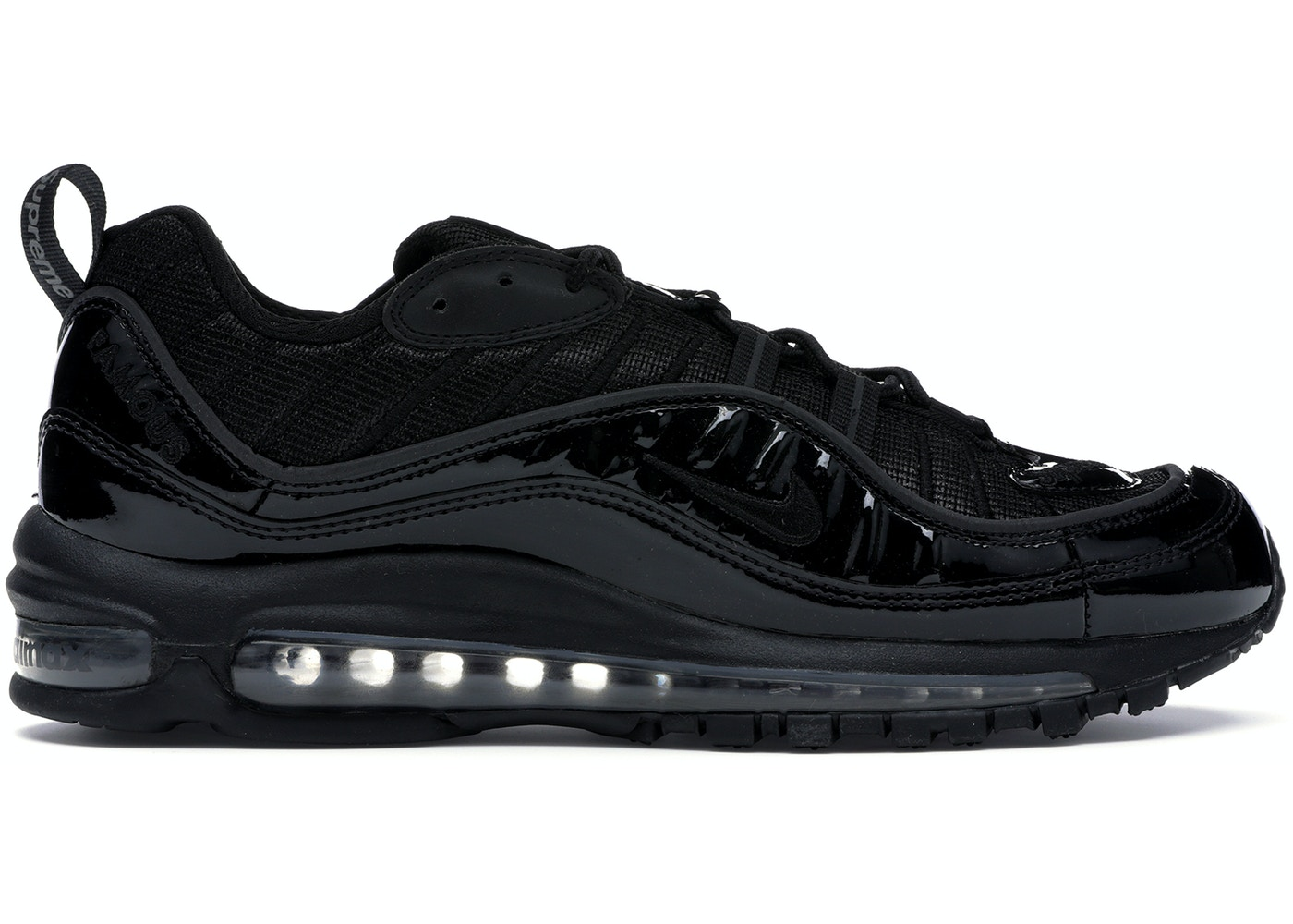 uk availability a376e 09b7b Air Max 98 Supreme Black