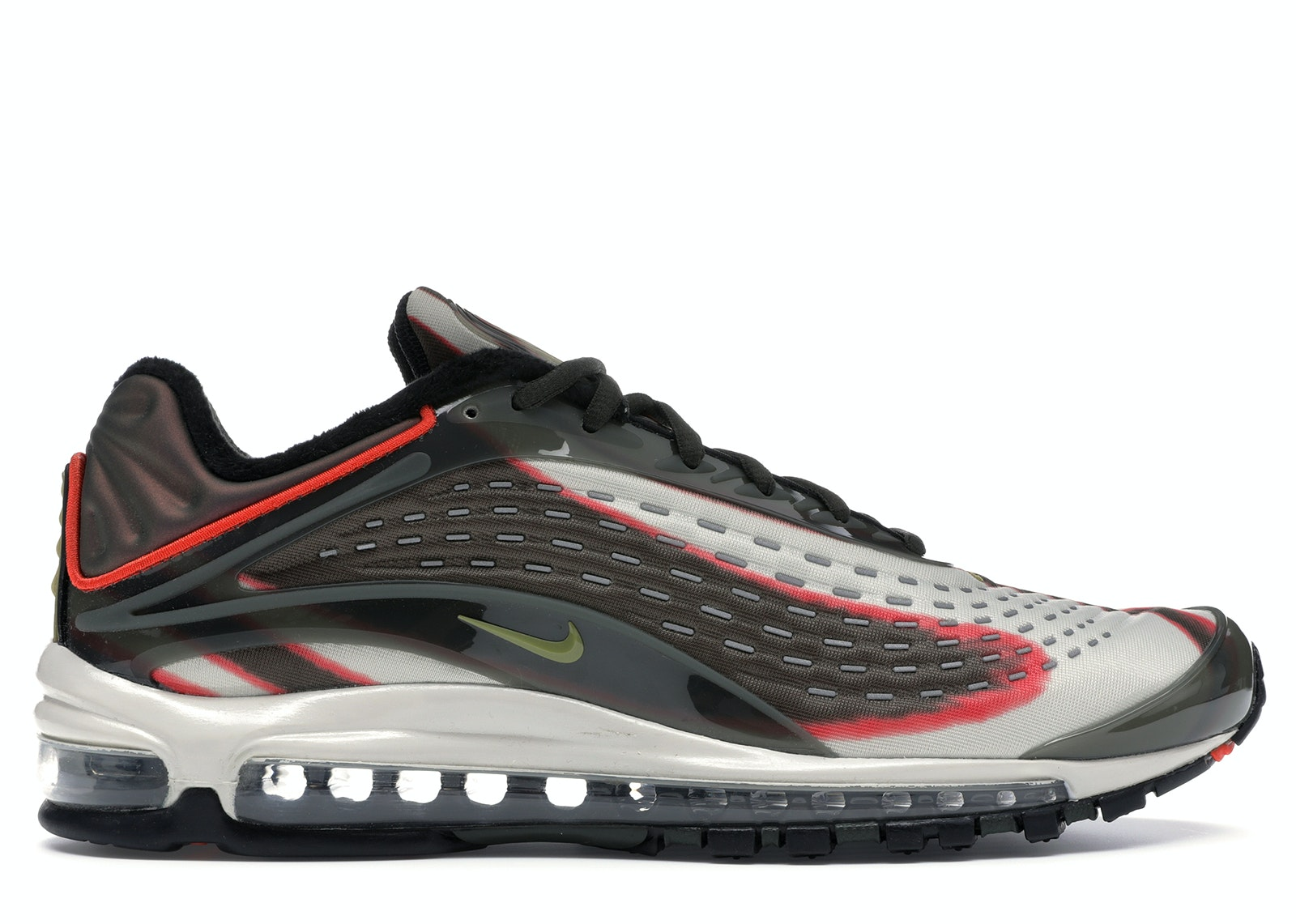Nike Air Max Deluxe Sequoia Men's 9.5 Green Grey Running Shoes AJ7831-300 DS